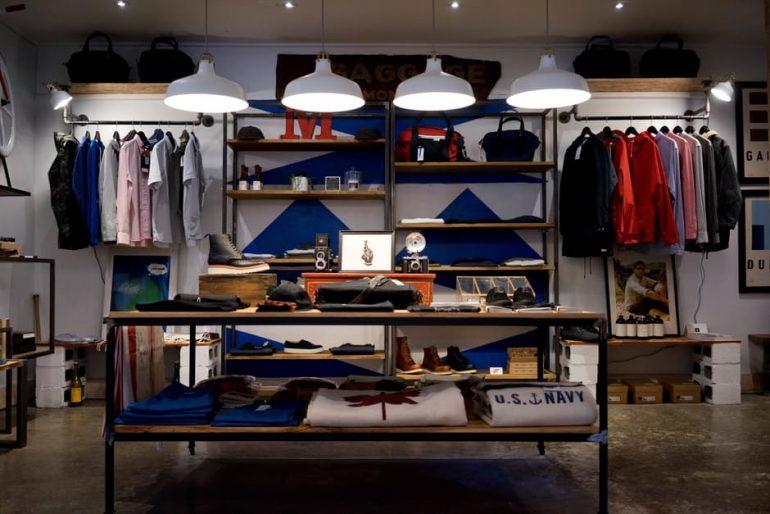 well-organized wardrobe