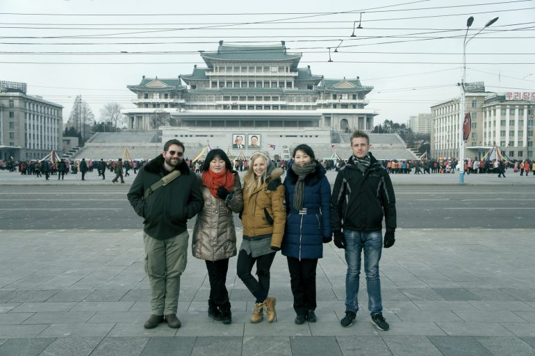 Group tour in North Korea