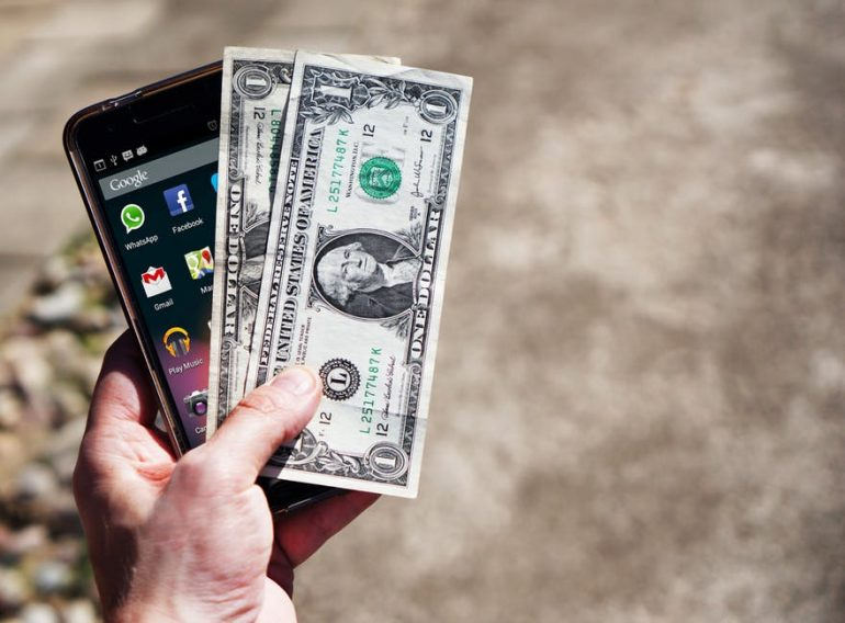 dollars and a phone