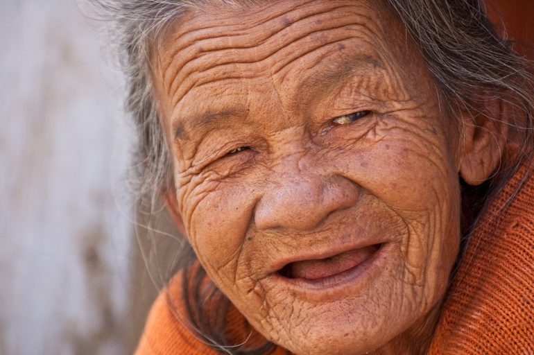 old woman smile