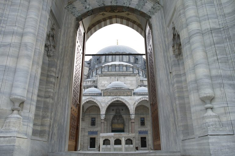 Turkey mosque entrance