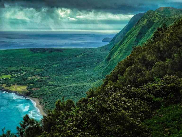 Muliwai Trail offers the most stunning scenes over the Hawaiian island