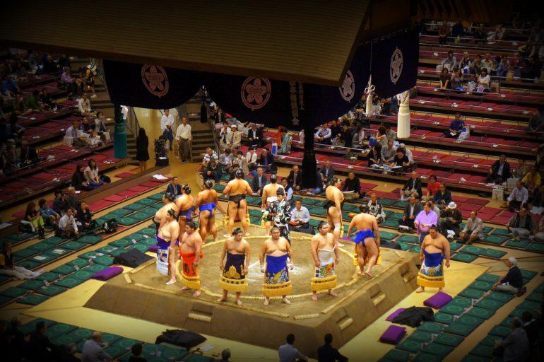 Sumo fight in Tokyo