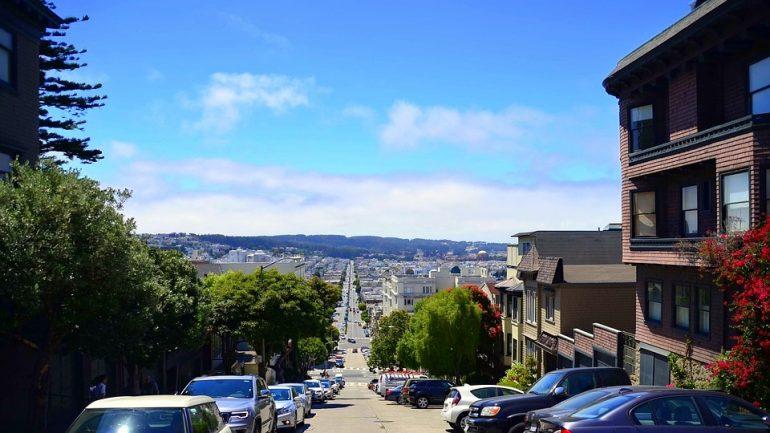 Lombard Street in San Frnacisco