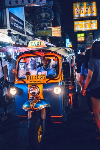 A tuk tuk in Thailand