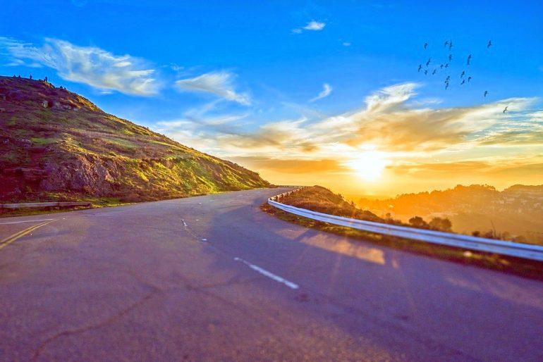 Road trip sunset