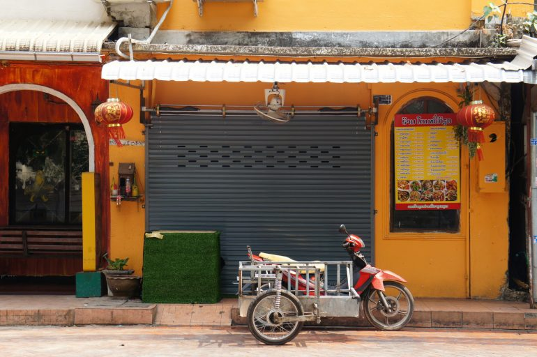 Motorbike parked in Vientiane, Laos