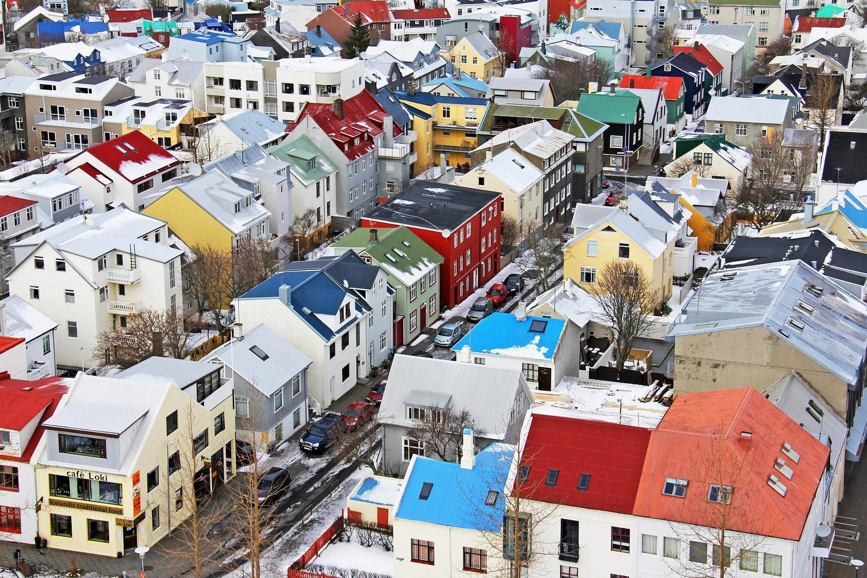 Reykjavik top view